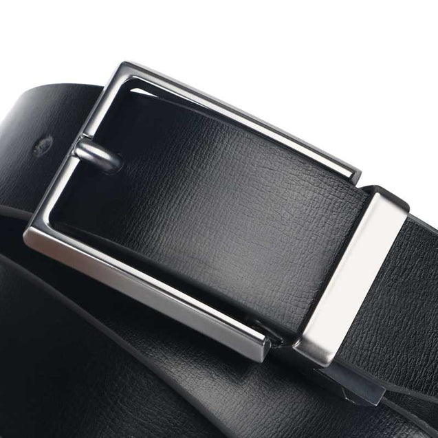 Dual Layered Buckle Belt For Men-12363