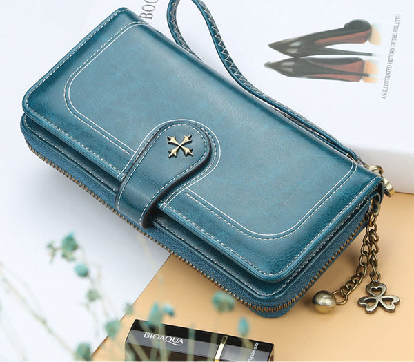 Korean Multi Card Long Wallet