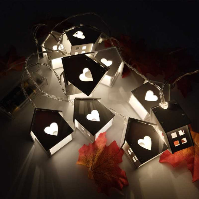 Creative Small Hut Led Lights String- 12755