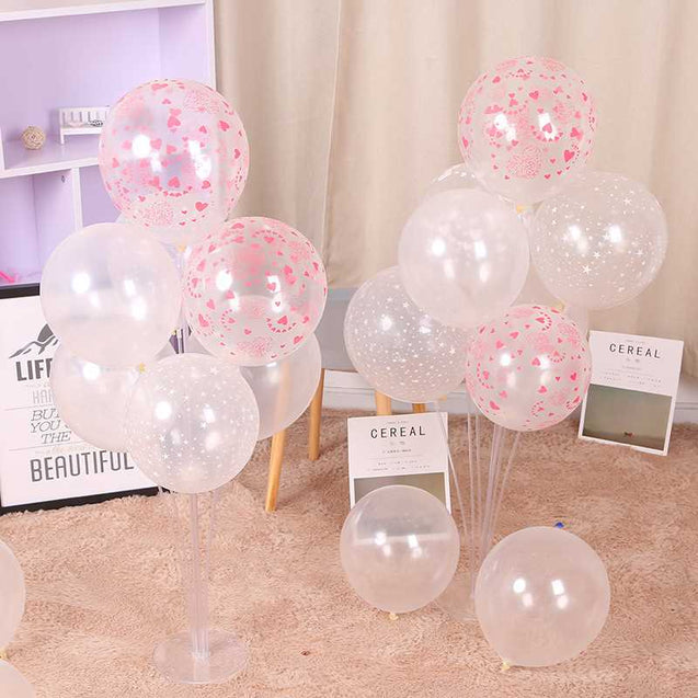 Seven-In-One Love Thicken Heart Shape Table Floating Balloon Column Accessories Wholesale -12316