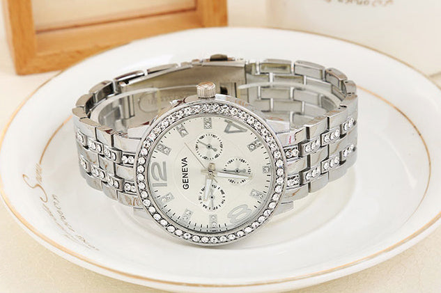Geneva Three-Dimensional Ladies Watch- 3889