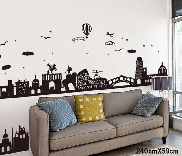 3D Stereoscopic Self Adhesive Wall Sticker Wall Sticker - GlobePanda