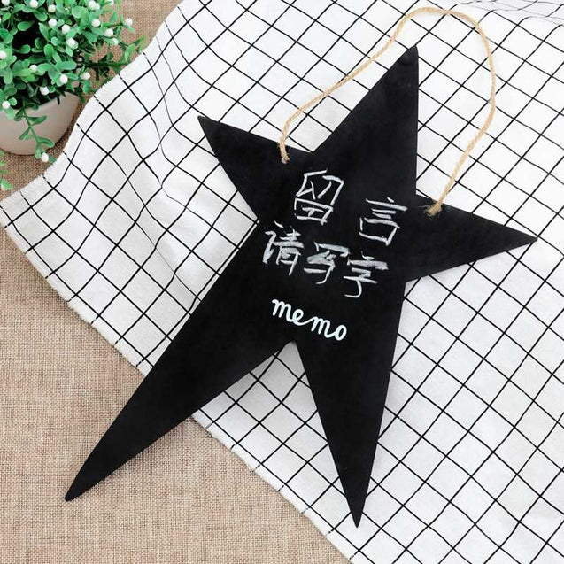 Factory Direct Zakka Double-Sided Hanging Wooden Creative Message Small Blackboard Home Decoration Wood Crafts-14590