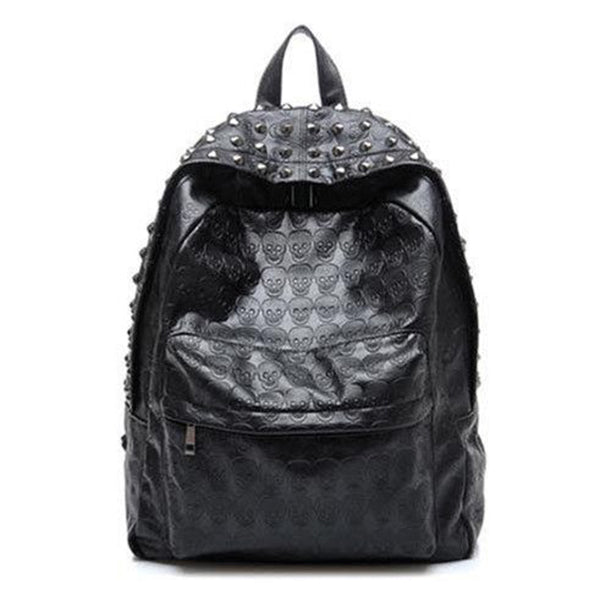 Plum Unisex embossed rivet backpack