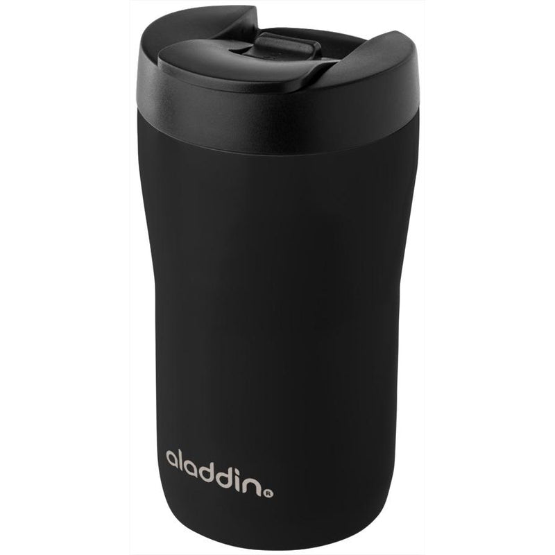 Aladdin Eco Compact Leak-Proof Stainless Steel Travel Mug, 250ml - Black