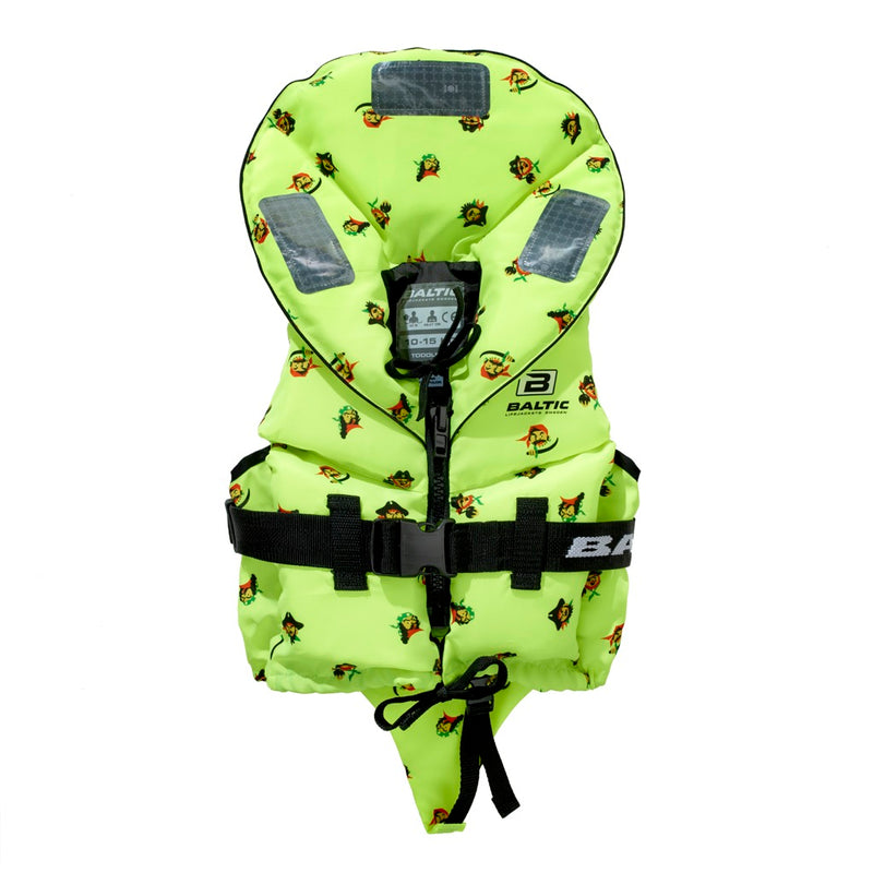 Baltic Pirate Kids Zipped Front Lifejacket - UV Yellow