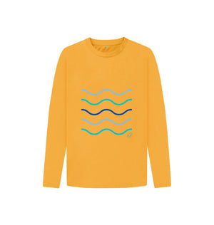 Mustard Kids Making Waves Long Sleeved T Shirt