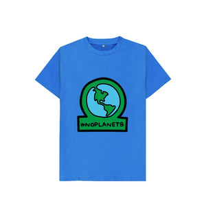 Bright Blue Kids No Planet B Organic Cotton T Shirt