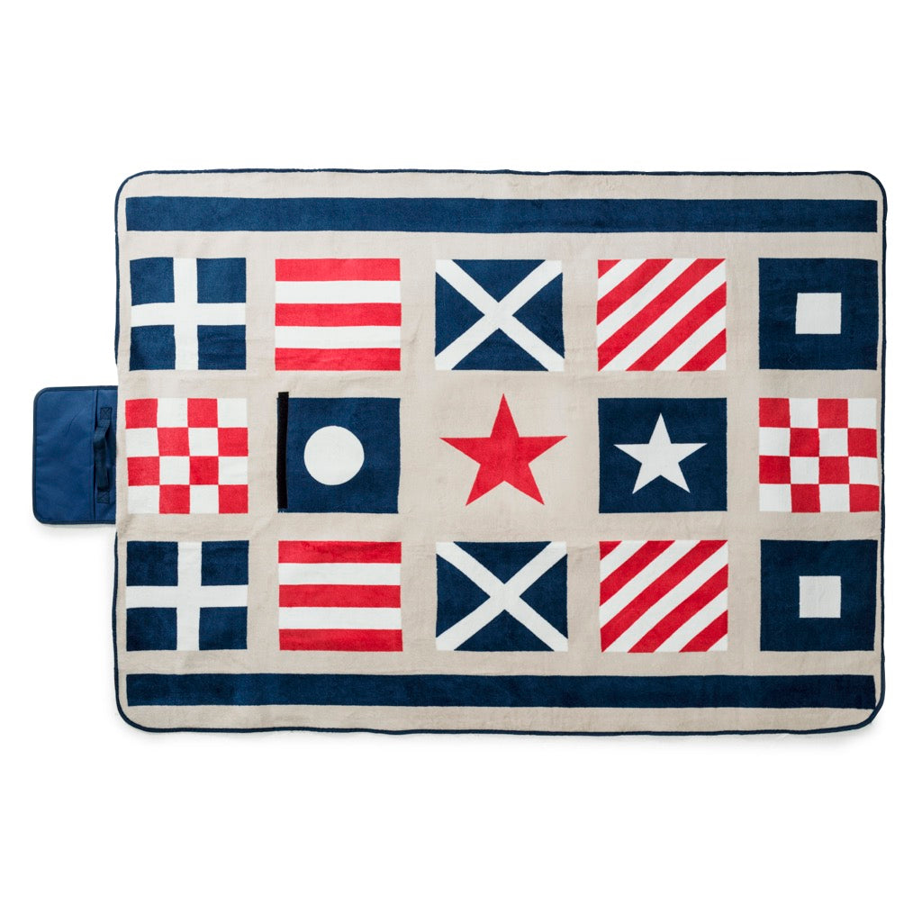 Nautical Water-Repellent Picnic Blanket