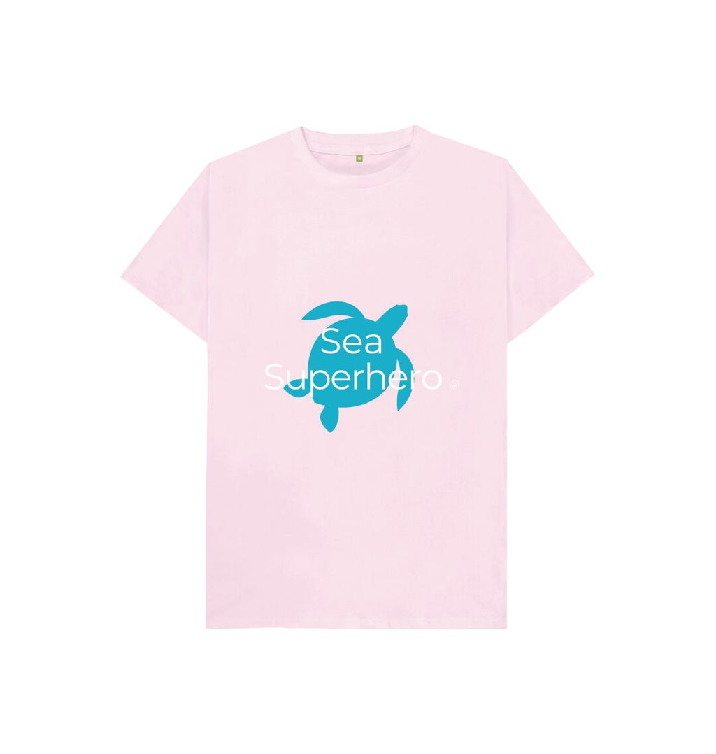 Pink Aqua Living Sea Superhero Kids T Shirt - Blue