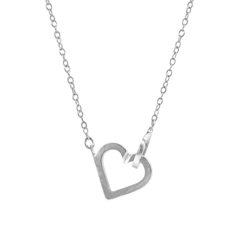 Little Heart Link Paradise Sterling Silver Necklace Pendant