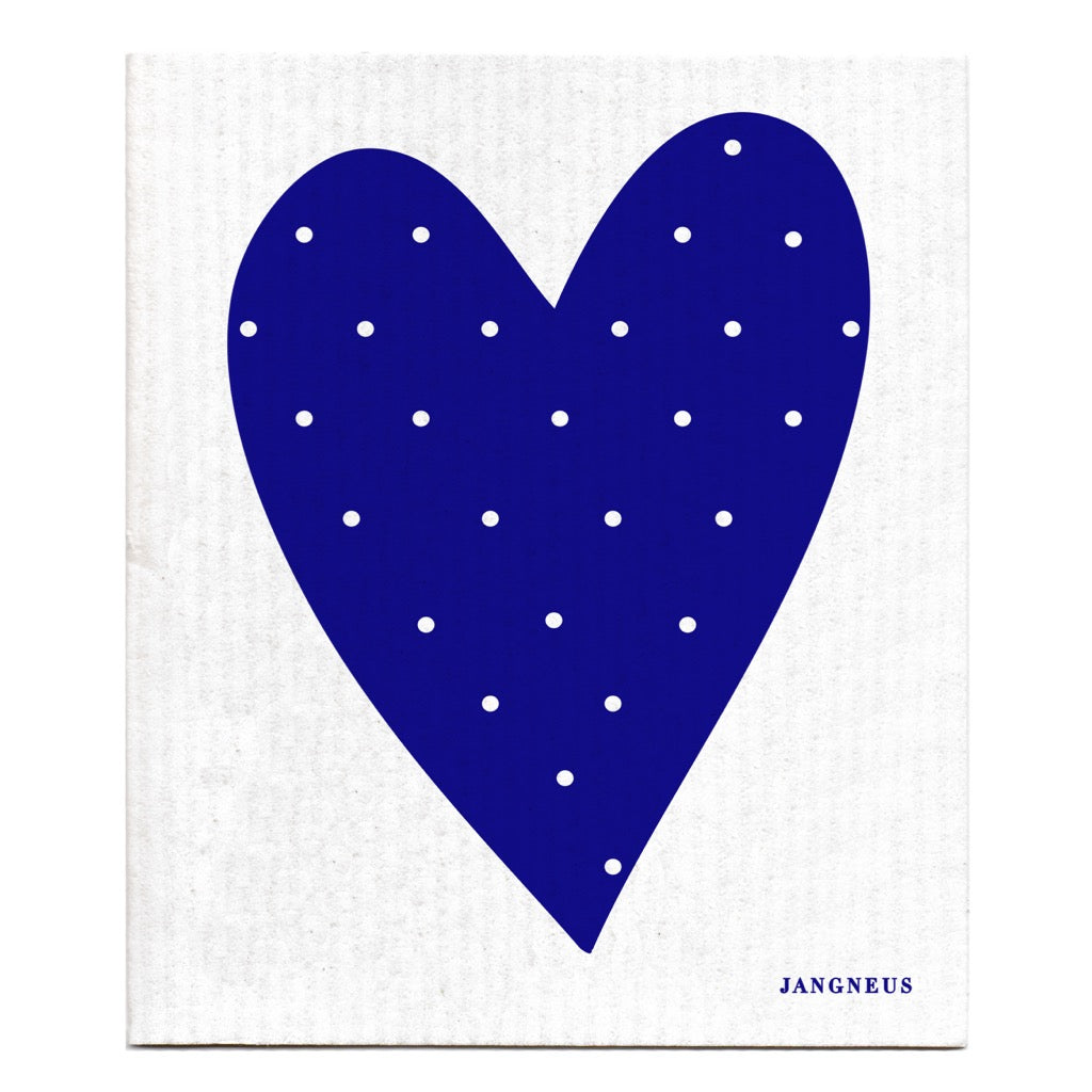 Jangneus Eco Blue Heart Compostable Dish Cloth
