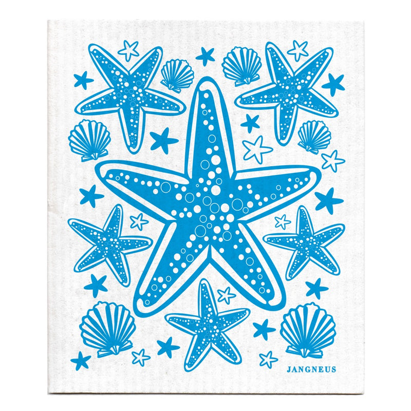 Jangneus Turquoise Starfish Compostable Dish Cloth