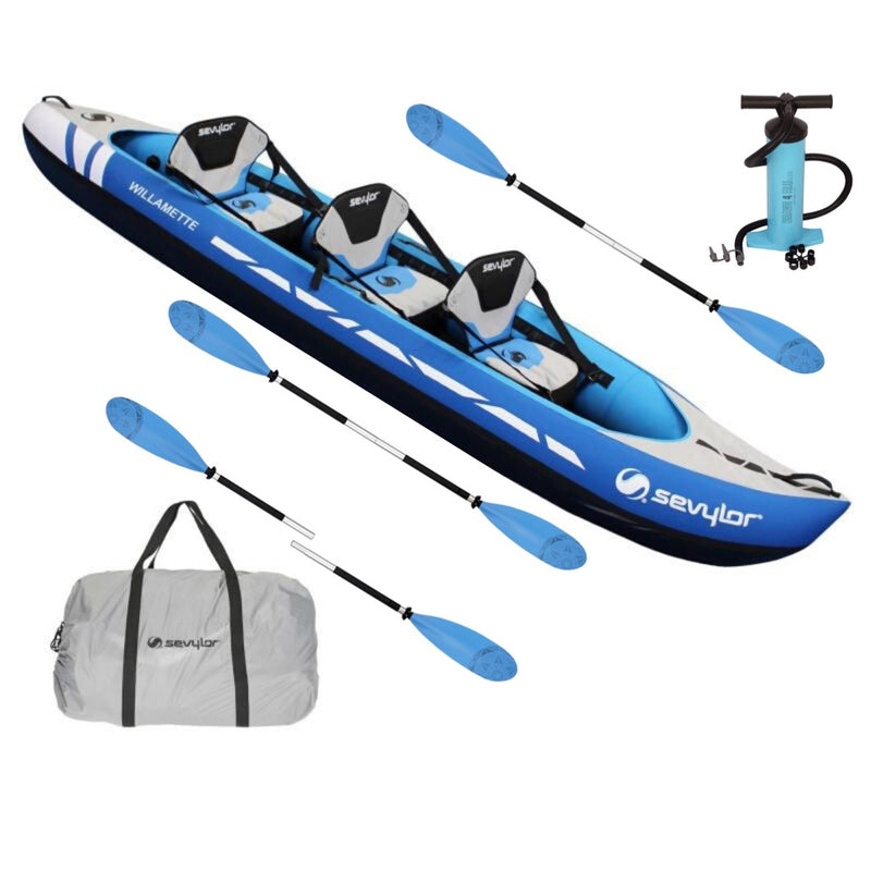 Sevylor Willamette Kayak Package 1 with Pump & Three Paddles