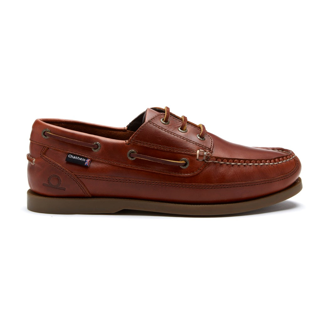 Chatham Mens Rockwell II G2 Wide Fit Leather Deck Shoe