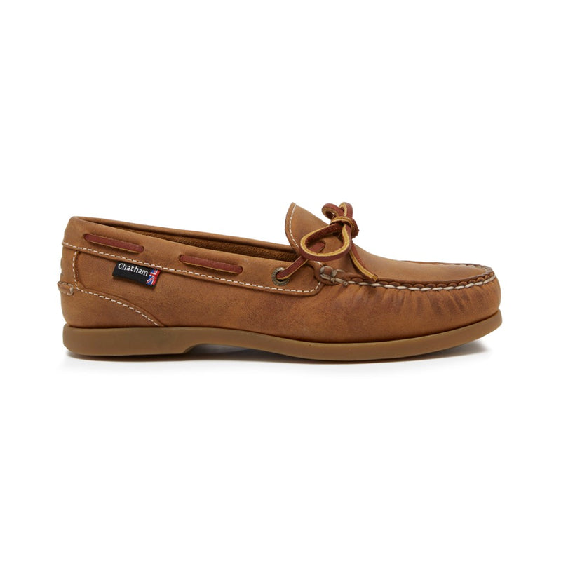 Chatham Olivia G2 Ladies Deck / Boat Shoe - Brown & Navy