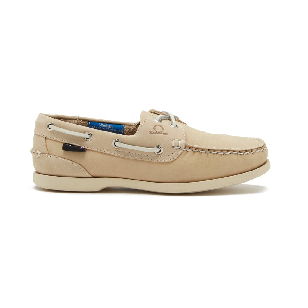Chatham Women's Pacific Lady G2 Deck Shoe - Grey, Navy, Beige