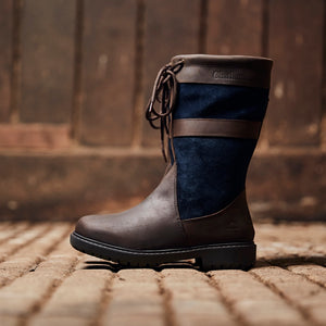 Chatham Paddock Mid Calf Waterproof Boots - Brown/Navy