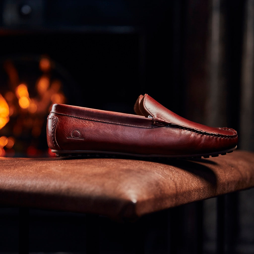 Chatham Ludlow Leather Driving Moccasins