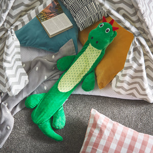Dustin the Dinosaur Long Hot Water Bottle For Kids & Teens - Potwells