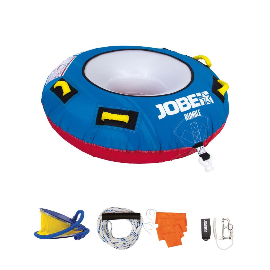 Jobe Rumble Towable 1P Package with Pump, Quick Release & Tow Rope