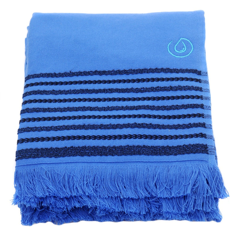 Aqua Living Mediterranean Pure Cotton Large Towel - Palma Blue
