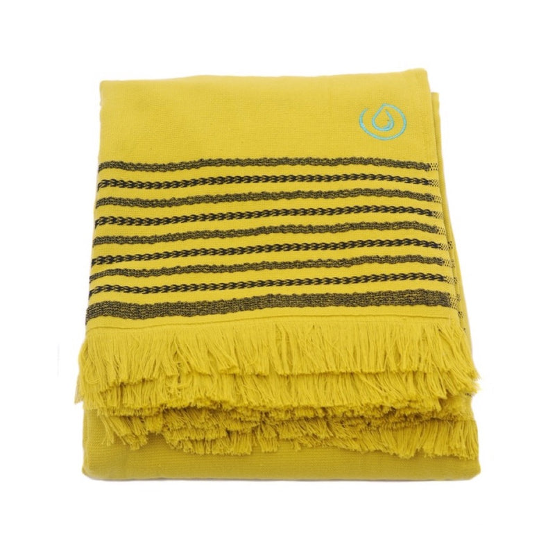 Aqua Living Mediterranean Pure Cotton Large Towel - Sicilian Lemon