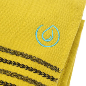 Aqua Living Mediterranean Pure Cotton Large Towel - Sicilian Lemon | Bathroom & Beach Travel Towel