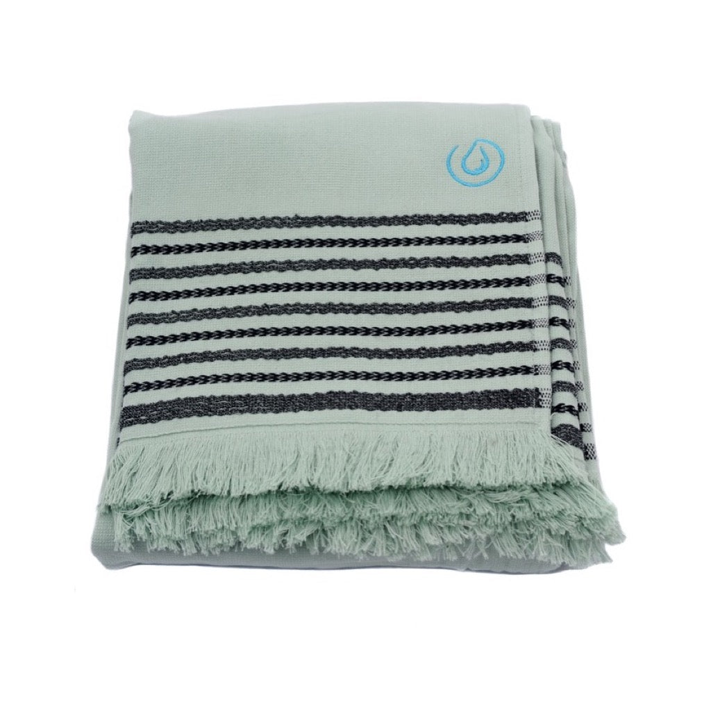 Aqua Living Mediterranean Pure Cotton Large Towel - Almond Green | Bathroom & Beach Travel Towel