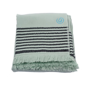 Aqua Living Mediterranean Pure Cotton Large Towel - Palma Blue | Bathroom & Beach Travel Towel