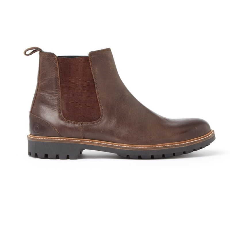 Chatham Chirk Men's Brown Leather Chelsea Boots - Dark Tan & Brown