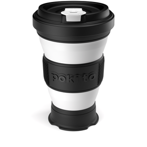 Pokito 3-Sizes-in-1 Folding Coffee Cup - Pop Up, Collapsible, Reusable, Eco-Friendly, Travel Cup