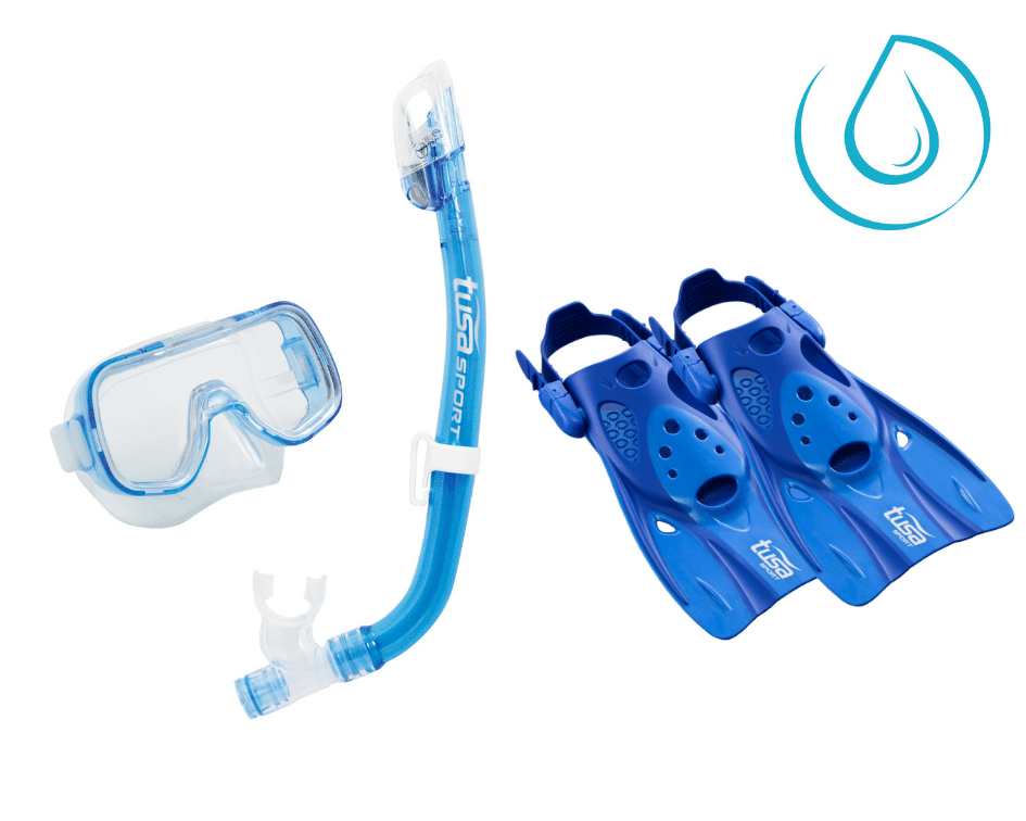 TUSA Junior Mask, Snorkel and Fins Set
