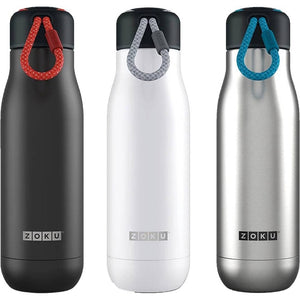 Zoku 500ml Vacuum Insulated Stainless Steel Water Bottle - White