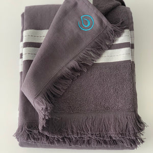Pacific Pure Cotton Large Beach Towel - Plastic Free - Storm Grey