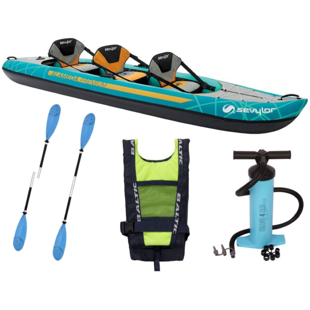 Sevylor Alameda Premium Kayak Package 2 with Pump & Two Paddles & Two Baltic Buoyancy Aids