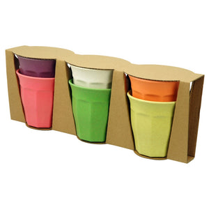 Set of 6 Bamboo Cup Set - Cupful of Colour