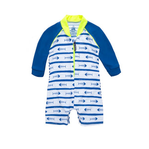 Fishbones - Baby All-in-One Long Sleeved Sunsuit