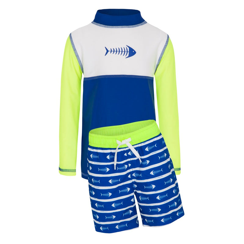 Fishbones - Yoke Long Sleeved Sunshirt & Swim Shorts