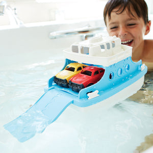 Green Toys Kids Eco Ferry Boat with Cars | Bath Toys