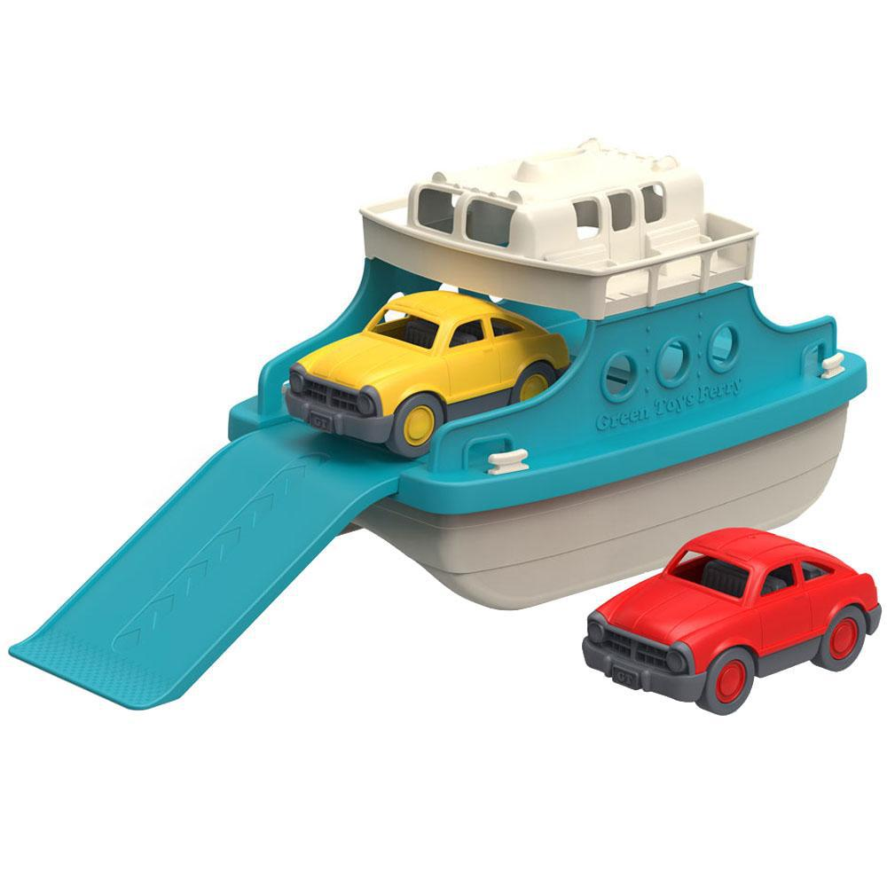 Green Toys Kids Eco Ferry Boat with Cars - Bath Toys