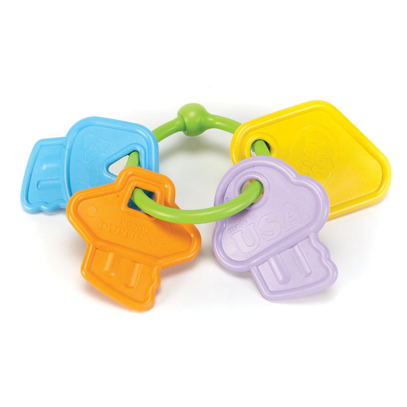 Green Toys Teething Rattle Keys