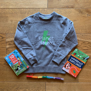 Aqua Living Planet Hero Kids Jumper - Green