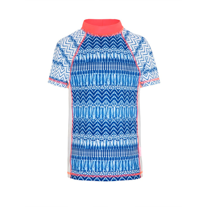 Indigo Waves Fitted Short Sleeved Sunshirt