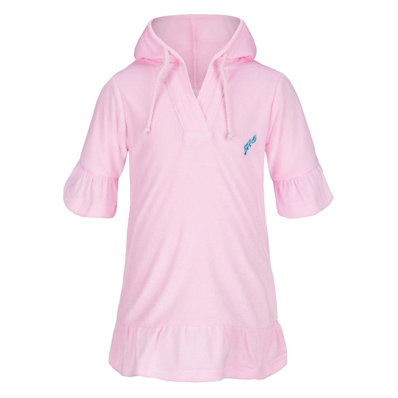 Girls Terry Cover Up - Light Pink