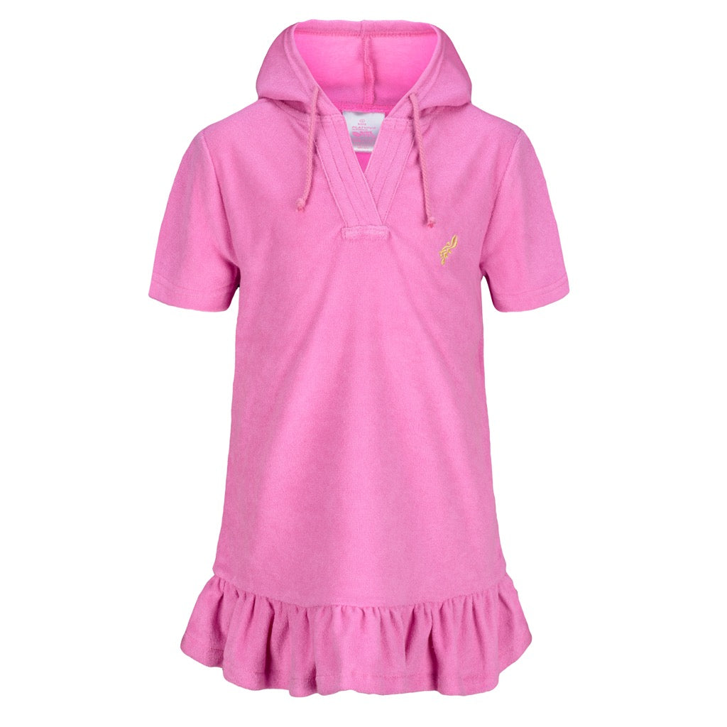 Girls Terry Cover Up - Pink