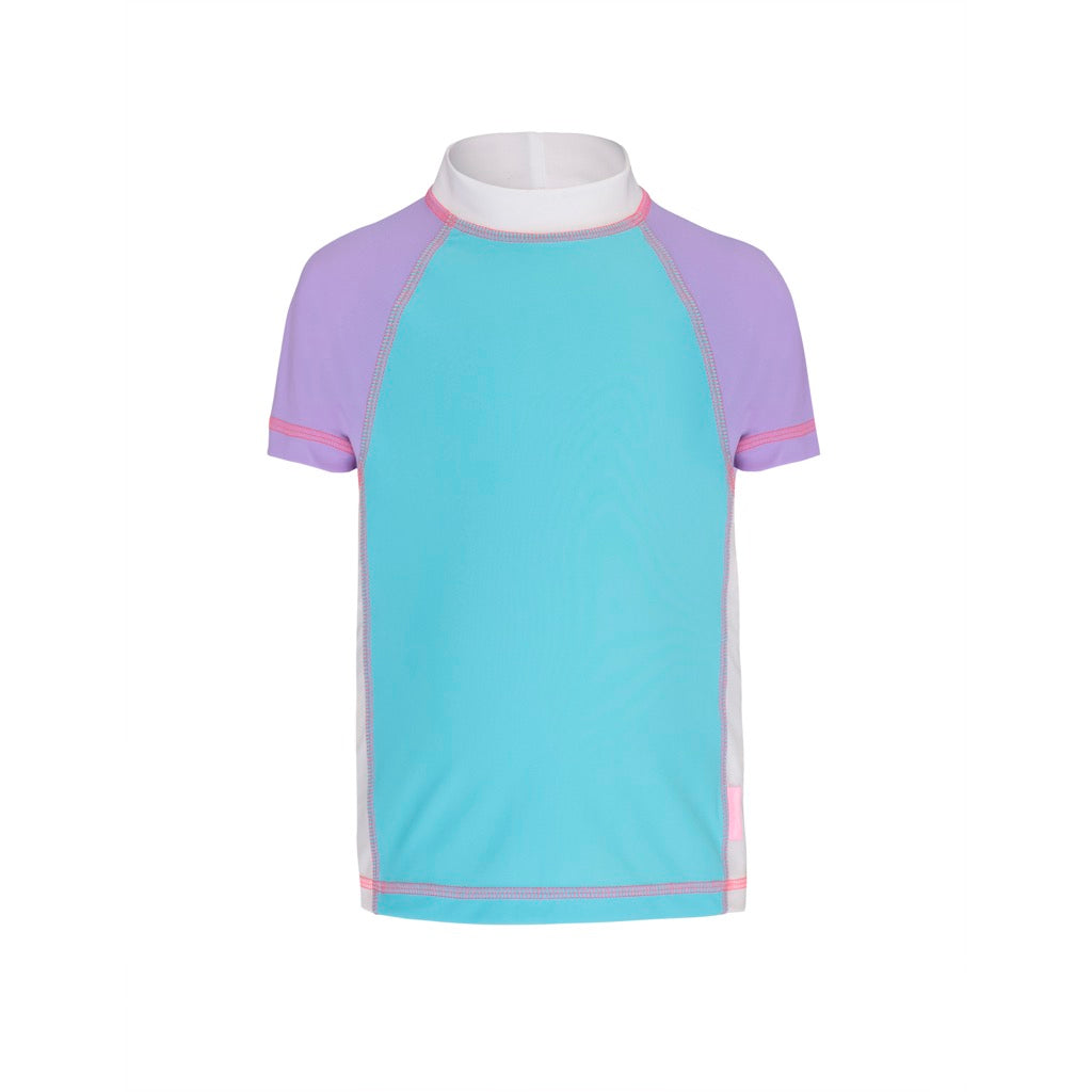 Sherbert Colour Blocked - Short Sleeved Sunshirt