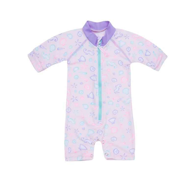 Sherbert Shore - Baby Short Sleeved All-in-One Sunsuit