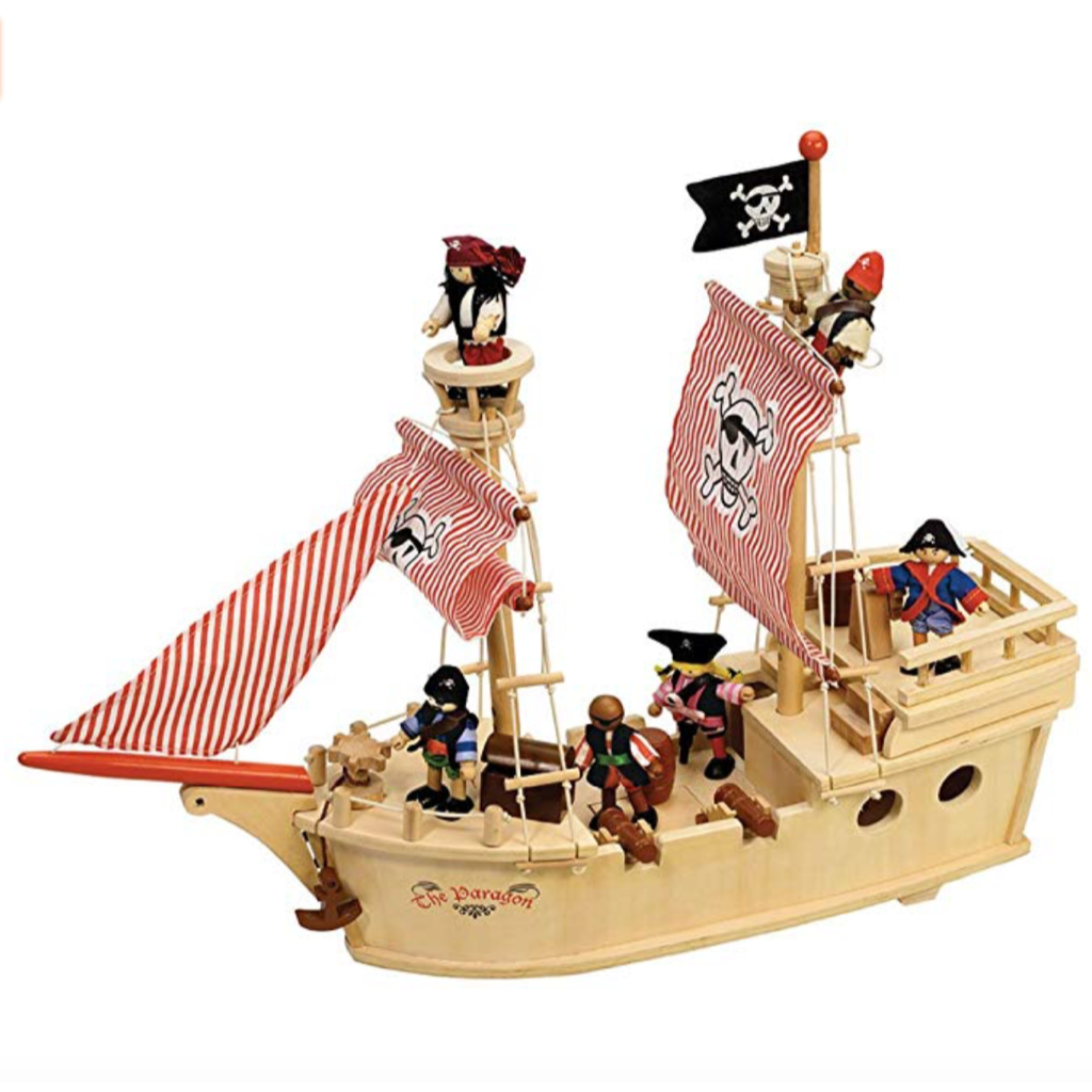 Eco Wooden Pirate Ship Play Set