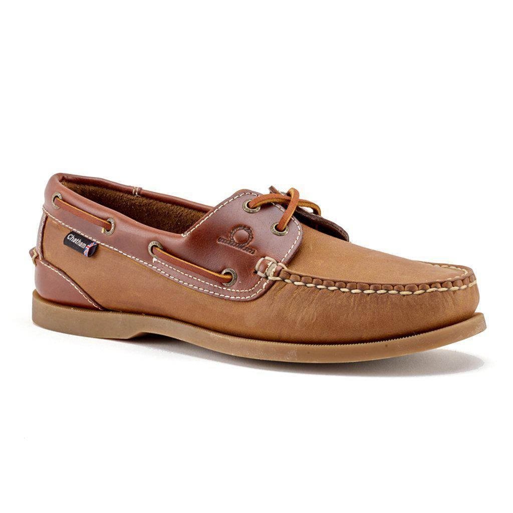 Chatham Bermuda II G2 Men's Leather Deck Boat Shoe - Navy & Tan